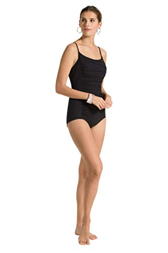61a59HdFk3L Details: Boy cut on legs, fully lined, full chest and bottom coverage, removable moldable cups, and attached shelf bra More Details: Ruched, open tie back, spaghetti strap, side paneling Sculpt Collection: 59% Nylon, 41% Spandex, Lining : 73% Nylon, 41% Spandex, Perfect for women who need to refine and polish their figure.