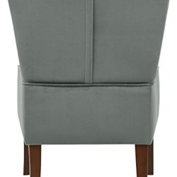 Amazon Brand – Rivet Ashworth Armless Velvet Accent Chair, 21.6″W, Smoky Teal