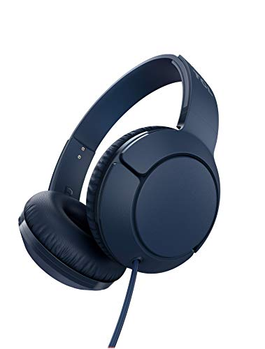 TCL MTRO200 On-Ear Wired Headphones with Built-in Mic - Slate Blue