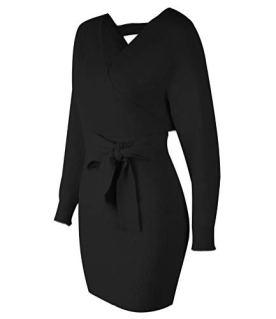 Wrap Knit Sweater Mini Dress