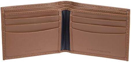 Tommy Hilfiger Men's Leather Bifold Wallet, Tan Zed, One Size 2