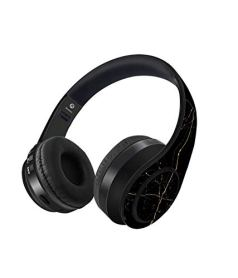 Macmerise Marble Black Onyx Decibel Wireless On-Ear Headphones (Multi-Colored)