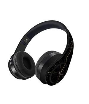 Macmerise Marble Black Onyx Decibel Wireless On-Ear Headphones (Multi-Colored)