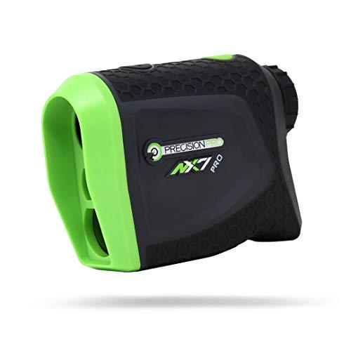 Precision Pro Golf, NX7 Pro Slope Golf Rangefinder, Laser Golf Rangefinder with Pulse Vibration, 400 Yard Range, 6X Magnification, Lifetime Battery Replacement