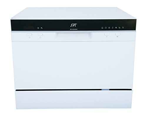 Sunpentown SD-2224DW Countertop Dishwasher with Delay Start in White, Gray