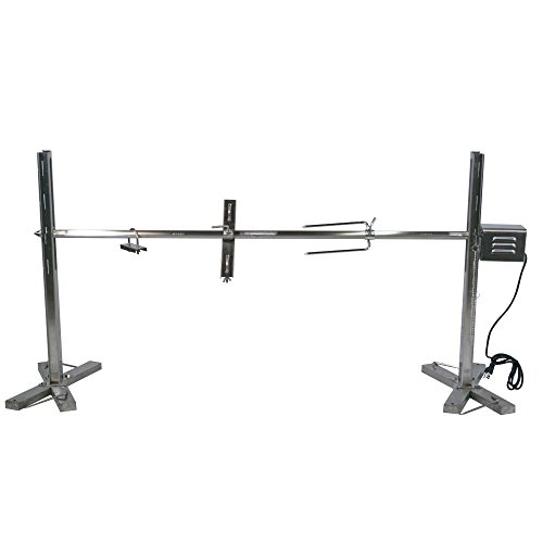 Titan Outdoors Stainless Steel 90 lb Capacity Open Fire Rotisserie System Tripod