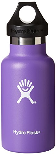 Hydro Flask Insulated Stainless Steel Water Bottle, Standard Mouth, 12-Ounce, Acai Purple