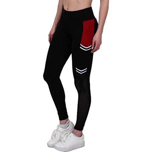 Jessica Simpson The Warm Up Womens Yoga Side Pocket Athletic Leggings Black M