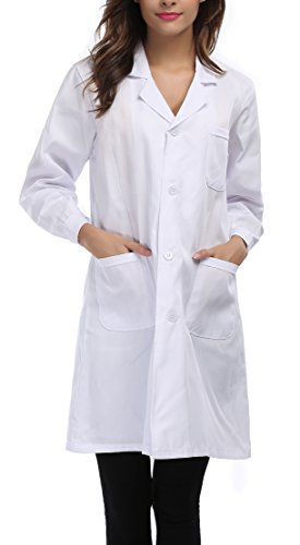 Taylor Eddie Ladies's White Full Size Lab Coat With Three Pockets  scrubs Store 313ydl5wB 2BL