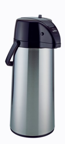 Zojirushi AASB-22SBXA Premier Air Pot Beverage Dispenser, 2.2 Liters, Stainless, Made in Japan.