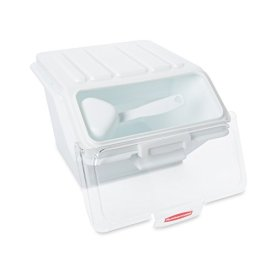 Rubbermaid-Commercial-ProSave-Shelf-Storage-Ingredient-Bin-with-Scoop-Plastic-Stackable-40-Cup-Capacity-White-FG9G6000WHT