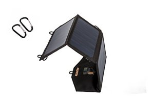 Ryno Tuff Dual USB 21W Foldable Solar Charger – Portable and Waterproof Built For Outdoors Highest Converting Solar Panels (22%-25%) Works For All 5V Devices iPhone/iPad/Galaxy/Note/Tab/Nexus and More