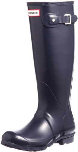 Hunter Women's Original Tall Navy Blue Rain Boots - 9 B(M) US