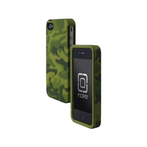 Incipio 74175 Incipio - Edge Hard Slider Shell Case For Apple iPhone 4 & 4S Cell Phones - Olive Green Camo