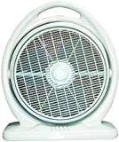 SPT SF-1413 14' Box Fan, Light Olive Green, 3 fan speeds, Powerful air delivery, Energy efficient, Convenient operation for portability, Louver rotation, Ideal for night time use, ETL