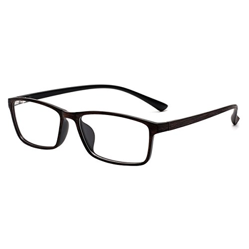 Myopia Glasses Stylish TR90 Frame Shortsighted Eyeglasses -0.50 to -6.00 for Men Women (-4.25) ***Please Kindly Note These are not Reading Glasses***