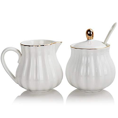 SWEEJAR Royal Ceramic Sugar and Creamer Set