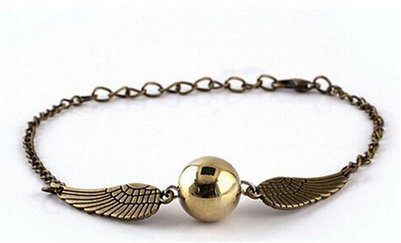 VEBE Quidditch Golden Snitch Bracelets chain fashion golden jewelry fan gift