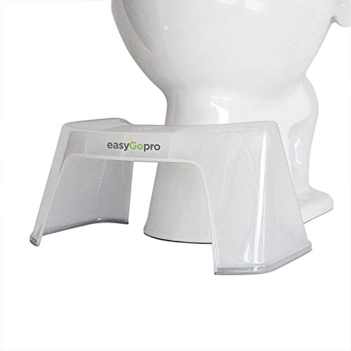 easyGopro 7.5' Bathroom Toilet Stool for Better Elimination | Compact | Discreet |Clear