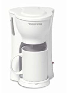 Toastess International 1-Cup Personal Coffee Maker with 10-Ounce Mug, White