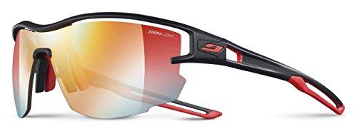 Julbo Aero Performance Sunglasses - REACTIV Zebra Light - Black/Red