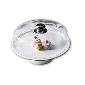 Cake Tray, Dessert Display Stand Pastry Tasting Tray Plastic Dome Round Cake Box Ceramic Tray Kitchen Dust Cover Food Cover (Size : 31.2 * 31.2 * 21CM) 3161TTdAoaL