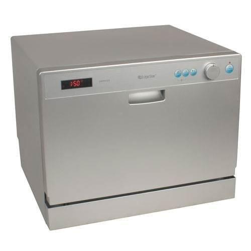 EdgeStar DWP61ES 6 Place Setting Countertop Portable Dishwasher - Silver