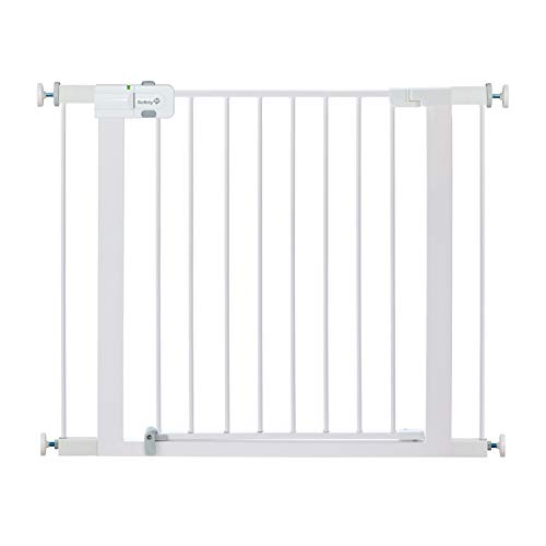 Safety 1st Easy Install Metal Baby Gate with Pressure Mount Fastening (White)