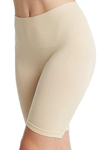 Women's Seamless Slipshorts Smooth Panties Light Nude XL