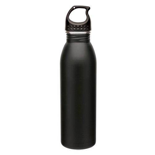 Slim Line Stainless Steel Water Bottle Canteen - 24oz. Capacity - Matte Black