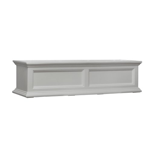 Mayne Fairfield 5823W Window Box Planter, 4-Foot, White