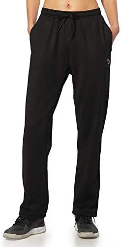 BALEAF Women's Running Thermal Fleece Pants Zipper Pocket Athletic Joggers Sweatpants Adjustable Ankle Winter Track Pants 1