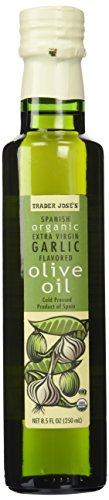 Trader Joe's Jose's 100% Organic Spanish Extra Virgin Garlic Flavored Cold Pressed Olive Oil (8.5 oz.)