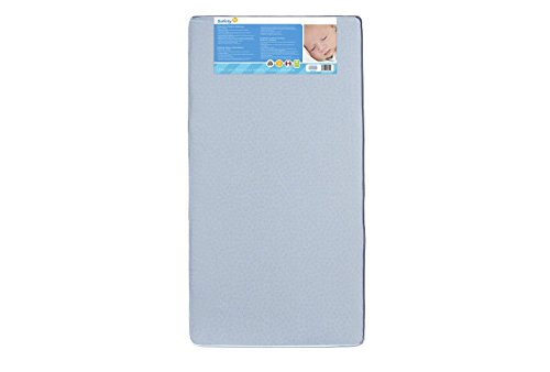 Safety 1st Heavenly Dreams Blue Crib & Toddler Bed Mattress for Baby & Toddler, Water Resistant, Lightweight, Hypoallergenic, Green Guard Gold Certified