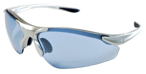 JiMarti TR15 Falcon Sunglasses for Golf, Fishing, Cycling-Unbreakable (Silver & Low Light Blue)
