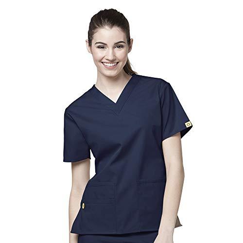 WonderWink Origins Women's 6016 Bravo Top & Romeo Pant 5026 Medical Uniform Scrub Set (Navy – Medium – Medium Petite) deal 50% off 316fh H220L