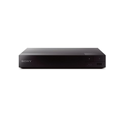Sony BDP-S3700 Streaming Blu-Ray Disc Player with Wi-Fi, Bundled with Sony DLC-HE10S 3.3' Slim High Speed 4K/3D/Ethernet HDMI Cable + Remote Control