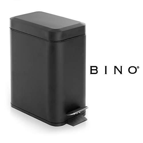 BINO Stainless Steel 1.3 Gallon / 5 Liter Rectangle Step Trash Can, Matte Black
