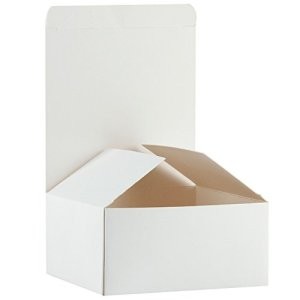 RUSPEPA Recycled Cardboard Gift Boxes – Small Gift Box with Lids for Craft, Cupcake and Cookies – 5″X5″X3″ – 30 Pack – White 317gx1EhYUL