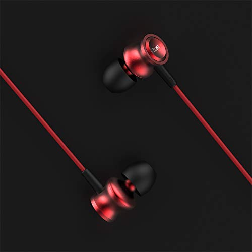 boAt BassHeads 152 Wired Earphones with Super Extra Bass, Durable Cable, Built-in Mic, Metallic Earbuds(Raging Red) 8