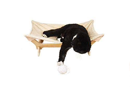 Cat Hammock with Stand | Natural Material Cats Love for Any Cat Lover 2