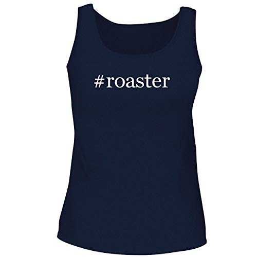 BH Cool Designs #Roaster - Cute Women's Graphic Tank Top, Navy, Medium