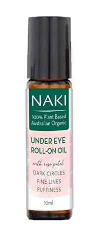 317xoU1TZpL - NaKi Organics Australia Australian Organic Under Eye Roll-on Oil for Dark Circles Wrinkles Fine Lines Puffiness -10ml