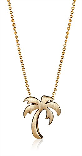 317yPvHC0BL Bead chain necklace featuring mini palm tree pendant in brushed finish Lobster-claw clasp Domestic