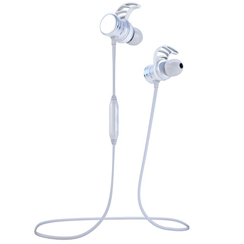 Bluephonic Bluetooth Headphones - Magnetic Wireless Earbuds w/Microphone | Impeccable HD Sound | Sports Running & Gym Workout Noise Cancelling Headset | Fit in Ear Sweatproof Earphones | 8 Hour Play
