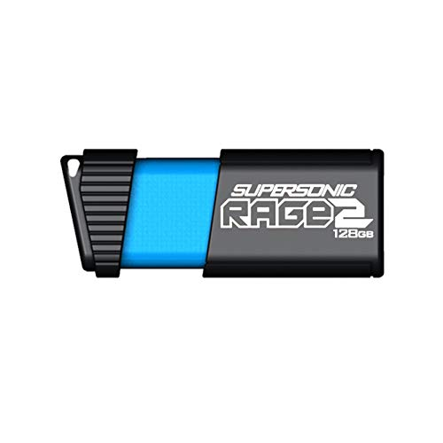Patriot 128GB Supersonic Rage 2 Series USB 3.1 Gen 1 (400 MB/s) Flash Drive with Transfer Speeds Up To 400MB/sec (PEF128GSR2USB)