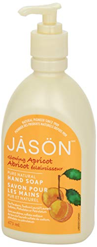 Jason Pure Natural Hand Soap Glowing Apricot, 16 Fluid Ounce