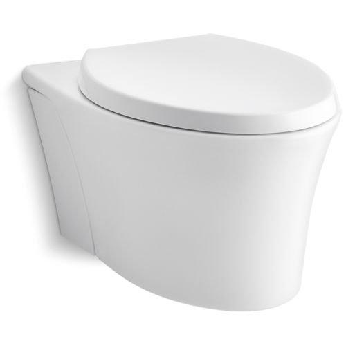 KOHLER K-6299-0 Veil Wall-Hung Elongated Toilet Bowl