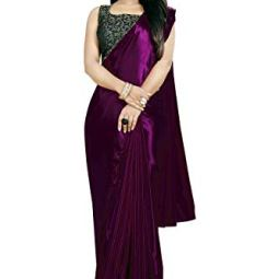 Amiga Fashion silk with blouse piece Saree