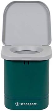 "STANSPORT - ""Easy Go"" Portable Camp Toilet for Emergency Outdoor Restroom (14 x 14 x 14 in, Green)"